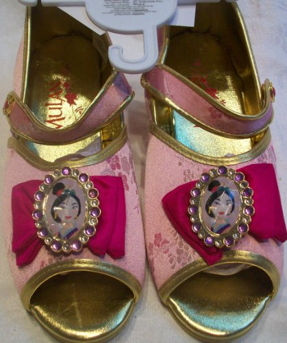 Disney Princess Mulan, Slippers, Costume, Dress up Pretend Play Shoes Girl Size 2/3