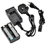 DSTE NP-FS10 Rechargeable Li-ion Battery + Charger DC05U for Sony NP-F10, NP-FS10, NP-FS11, NP-FS12 and Sony Cyber-shot DSC-F505, DSC-F55, DSC-F55, DSC-P1, DSC-P20, DSC-P30, DSC-P50, CCD-CR1, CCD-CR5, DCR-PC1, DCR-PC2, DCR-PC3, DCR-PC4, DCR-PC5, DCR-TRV1