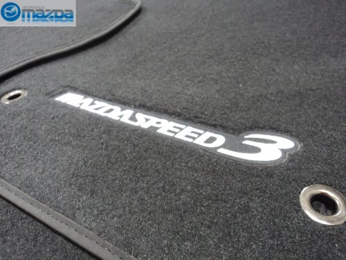 MAZDASPEED 3 2010-2012 NEW OEM SET OF FOUR FLOOR MATS SILVER STITCHING