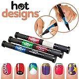 Swarish Women's Nail Art Pen Latest 2 in 1 Brush & Pen 6 colors
