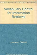 Vocabulary Control for Information Retrieval