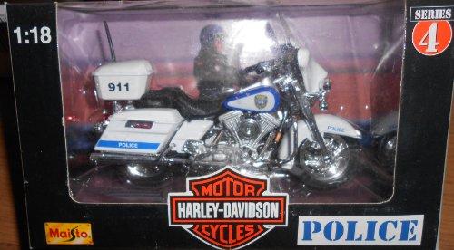 Maisto Harley Davidson Motorcycles (Series 4 1998) 1:18 Scale Milwaukee Police Department Bike
