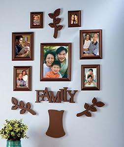 family tree picture frame sets brown 12 pc. Black Bedroom Furniture Sets. Home Design Ideas