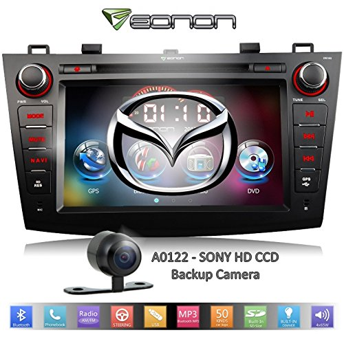 Eonon D5163Z For (10-12) Mazda3 + Sony Hd Backup Camera -- Large 8-Inch Lcd Touch Screen - Dvd Player - Gps Nav. (Map Not Included) + Bluetooth