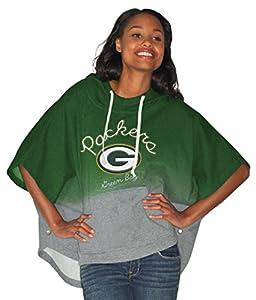 Green Bay Packers Women's Green Fleece Poncho