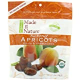 Made In Nature Organic Apricots, Dried, Unsulfured, 6-Ounce Bags (Pack of 6) ~ Made In Nature