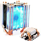 Heatpipe Radiator Blue LED Hydraulic Bearing Quiet 3pin CPU Cooler Fan for Intel LGA1150 1151 1155 775 1156 AMD Fan Cooling