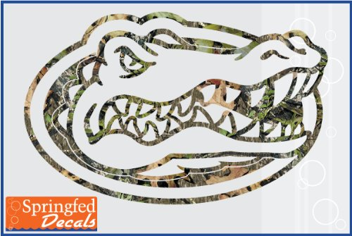 "Florida Gators Camo Gator Head Logo 20"" Vinyl Decal Car Truck Window Uf Sticker"