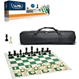 Wood Expressions Tournament Chess Set with Black Canvas Bag