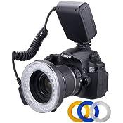 Polaroid 48 Macro LED Ring Flash & Light Includes 4: Amazon.co.uk: Electronics