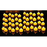 Goyal Flameless LED Yellow Tealight Birthday/ Festival / Anniversary / All Purpose (Bulk Set Of 48)