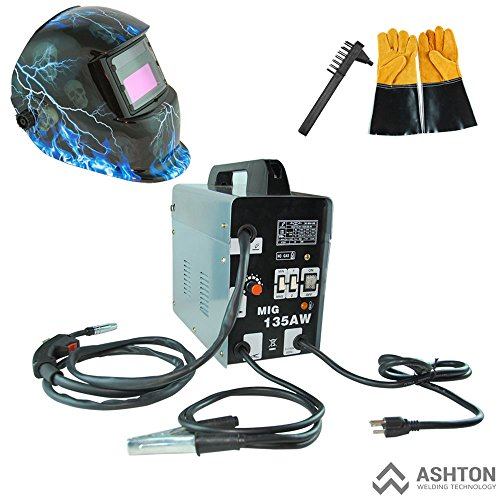 Why Choose Commercial 115v Mig 130 135 Amp Automatic Feed Flux Core Gasless Welder Mig-135aw Helmet ...