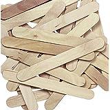 1 X Natural Jumbo Wood Craft Sticks - 100 pcs.