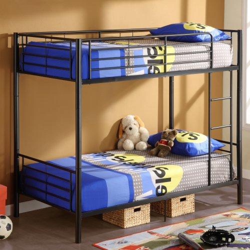 Black Metal Bunk Beds 8605 front