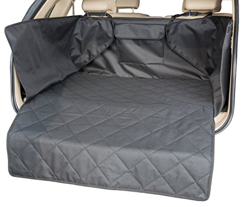 INNX Quilted Waterproof Pets Dog SUV Cargo Liner cover Heavy Duty Non Slip Canine Cargo Cover for SUV Standard Size 41