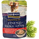Fish4Dogs Salmon Mousse 4 dogs, 100 g, Pack of 6