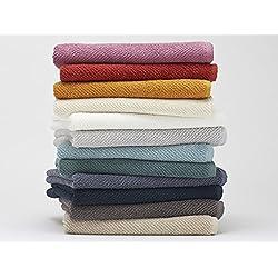 Coyuchi Air Weight Organic Cotton Towel Set in Deep Dusty Aqua