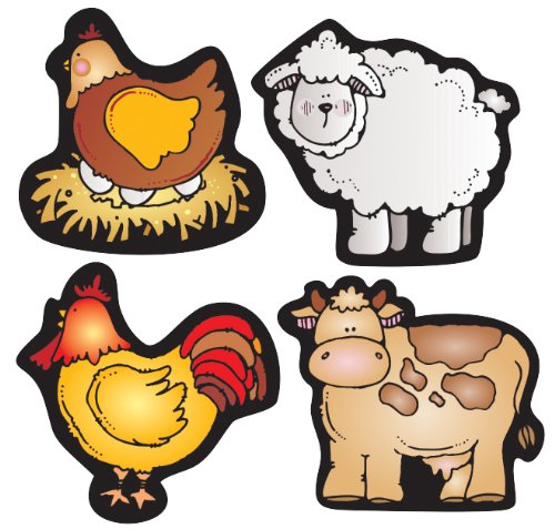 Carson Dellosa D.J. Inkers Farm Friends Shape Stickers (668032)