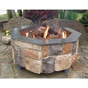 Firescapes smooth ledge octagonal propane for Amazon prime fire pit