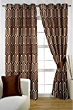 HOMEC Decorous Jacquard Curtain Set of 2 (Size - Window 46 X 60 inch/Color - Brown)