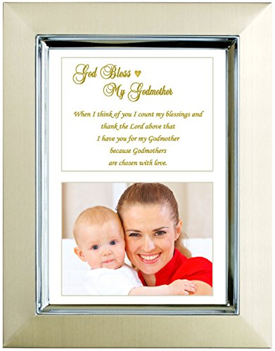Godmother Gift - Baptism or Birthday Gift for Godmother from Godchild - Add Photo to Frame
