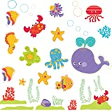 Brewster Fisher-Price ST99797 Peel & Stick Ocean Wonders Wall Decals, 4-Sheets