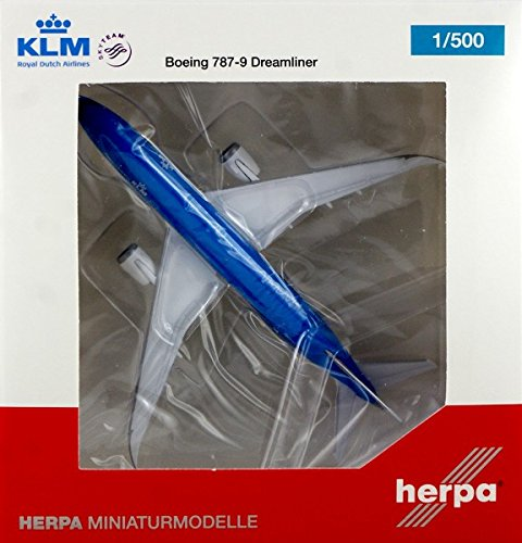 HE528085 Herpa 500 Scale KLM Royal Dutch Airlines B787-9 Model Airplane (Klm Model Plane compare prices)