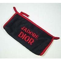 (ディオール) Dior ロゴポーチ パイルブラック×レッド