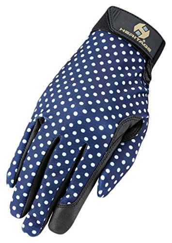 Heritage Performance 7 Polka Dots Gloves Navy Sporting