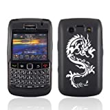 Samrick Dragon Thick Hydro TPU Silicone Protective Case for Blackberry 9700 Bold/9780 Bold - Black/White