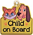 Child on Board car sign for car window - Great gift / gifts / present / presents for new baby, girl, boy, children, sticker, decal, vinyl by Yonghe Industrial Co. Limited