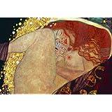 Gustav Klimt (Danae) Art Poster Print - 24x36 custom fit with RichAndFramous Black 24 inch Poster Hangers