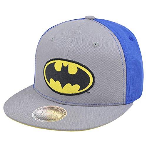 DC Comics Batman Snapback Blue Super Hero Dark Knight Flat Bill Hat Cap Movie