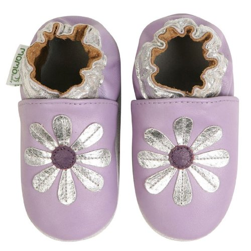 Momo Baby Soft Sole Baby Shoes - Daisy Purple