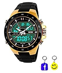 BLUE DIAMOND iik collection combo watches for mens and womens golden black combination