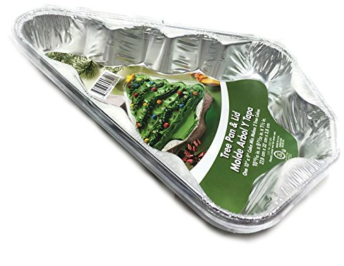 Aluminum Christmas Tree Shaped Pan and Lid ~ Pack of 2 (Tree Cake Pan compare prices)