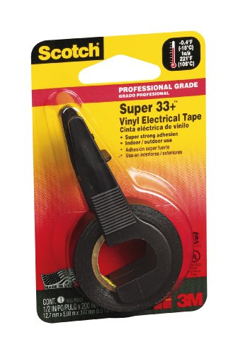 Scotch 194Na 0.5 By 200-Inch Super 33+ Vinyl Electrical Tape