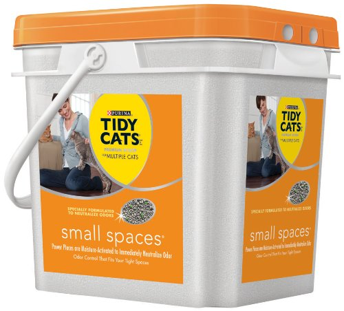 Tidy Cat Scoop Small Spaces Scoop Pail for Multiple Cats Odor Solutions, 27-Pound (070230110916)