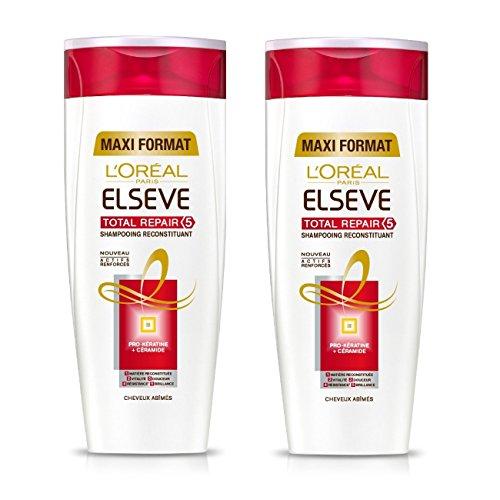 L'Oréal Paris Elvive Total Repair 5 Shampoo Ripristino capelli danneggiati 400ml Set di 2