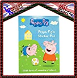 Peppa Pig A4 sticker pad with lots of reuseable stickers