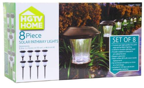 Gt Gt Gt Sale Hgtv Home 8 Piece Solar Pathway Lights