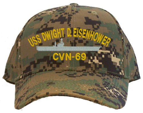 USS Dwight D. Eisenhower CVN-69 Embroidered Baseball Cap - Digital Camo (Uss Dwight D Eisenhower compare prices)