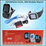 KenXinDa Watch Mobile Dual SIM with Bluetooth Headset - Black + DMG Wristband