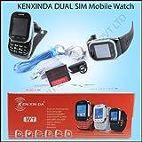 KenXinDa Watch Mobile Dual SIM With Bluetooth Headset - Black + DMG Wristband