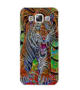 SAMSUNG GALAXY E5 TIGER Back Cover by PRINTSWAG