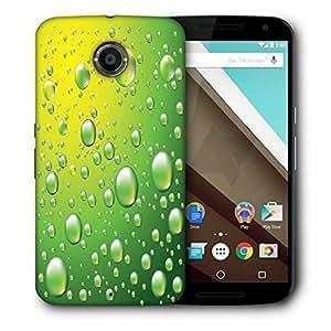 Snoogg Dew Drops Vector Background Designer Protective Back Case Cover For Motorola Nexus 6