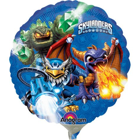 "9"" Airfill Only Skylanders Group Balloon"