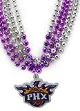 NBA Phoenix Suns Team Medallion and Mardi-Gras Bead Set