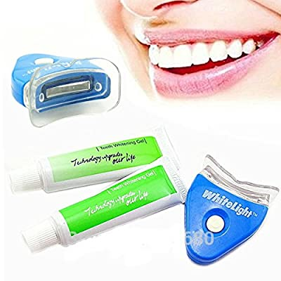 White LED Light Teeth Whitening Tooth Gel Whitener Healthy Oral Dental Care Toothpaste Kit