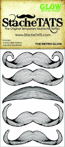 StacheTATS The Retro Glow Temporary Mustache Tattoo - 1